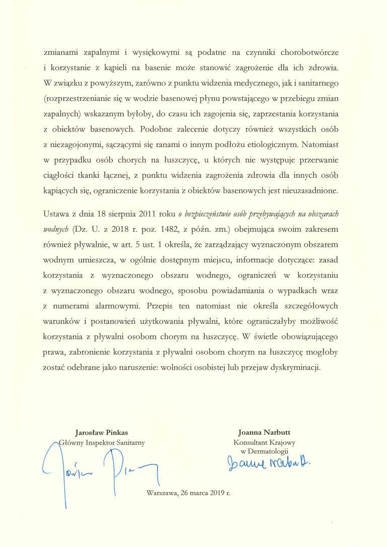 Oświadczenie Konsultantów Krajowych w sprawie osób chorych na łuszczycę
